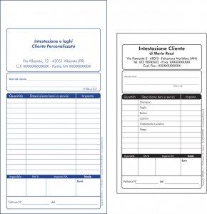 Blocchi ricevute e fatture non fiscali pers for Codice fiscale da stampare